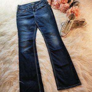 "Silver ""Suki mid slim boot"" 28X33 jeans."